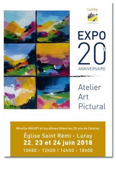 Atelier d'Art Pictural - Exposition 20 ans - 22, 23 et 24 juin 2018