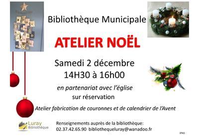 Bibliothèque de Luray - Atelier Noël - 02 décembre 2017