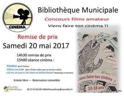 Bibliothèque Luray - Remise prix concours film amateur - 20 mai 2017