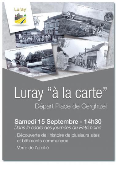 "Luray ""à la carte"" - 15 septembre 2018"
