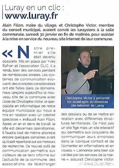 Mairie Luray - Lancement du nouveau site Internet