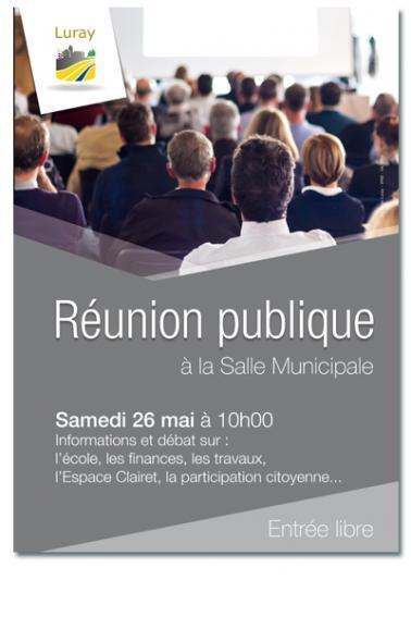 Mairie de Luray - Réunion publique - Samedi 26 mai 2018