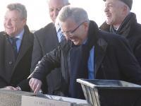 Espace multifonctions de Luray - Pose de la première pierre - M. Bonneau, Président du Conseil Régional